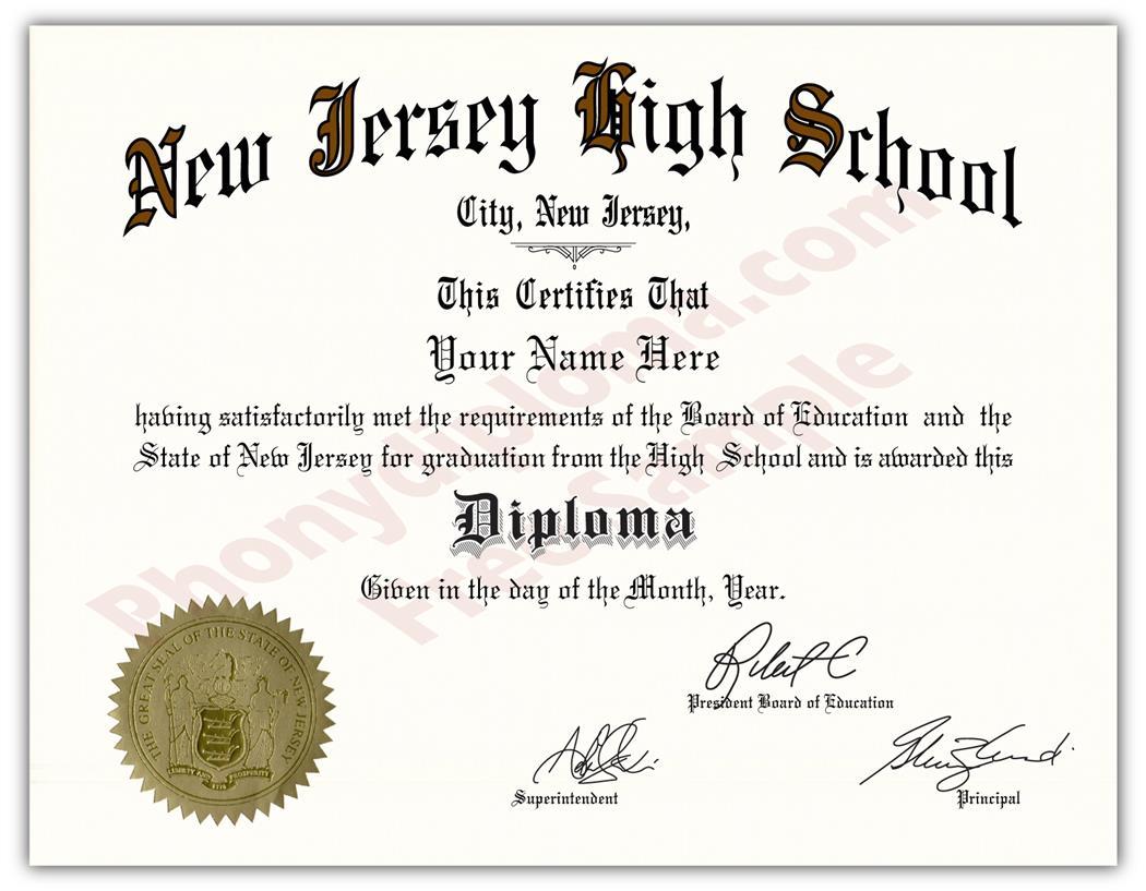 fake diploma diplomas template state seal jersey transcripts pdf nj degrees phonydiploma hs
