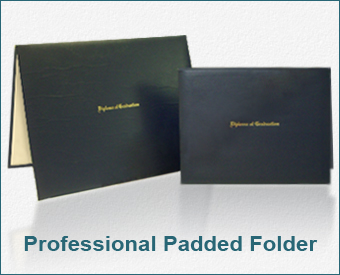 "Top Seller - Padded Folder Embossed Gold ""Diploma Of Graduation"" Folder"