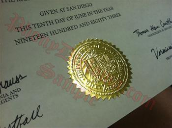 Fake Diploma Seal Samples