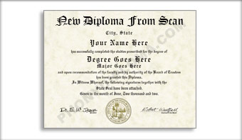 Custom Diploma Reproduction Order Form Diploma - Full Custom