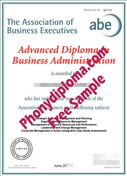 Association of Business Executives Fake Diploma Cert-ABE