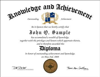 Knowledge and Achievement Diploma Cert K and A