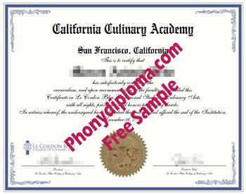 California culinary academy fake diploma sample from phonydiploma california culinary certificate yadclub Image collections