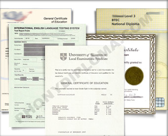 Fake Certificates designed to look just like the real thing! Certs - Several Different Designs