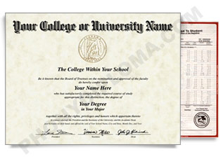 Fake USA College or University Diploma and Transcripts Style 7 USA Col D&T Style 7