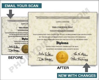 Custom Certificate from your scan