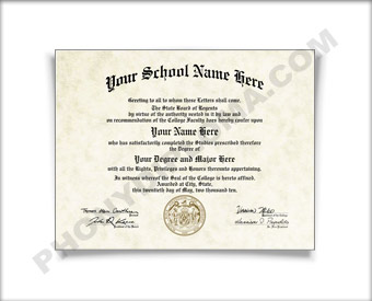 Fake Kansas College or University Diploma