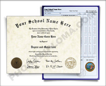 California University Style Diploma & Transcripts CA University D&P