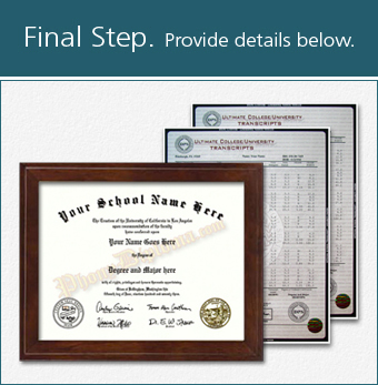 Fake College Diploma with Transcripts