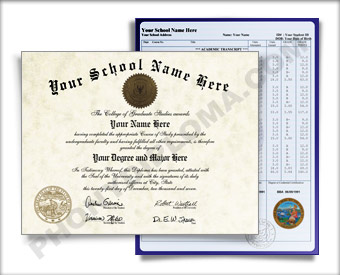 Fake Idaho College Diploma and Transcripts COL ID D&T