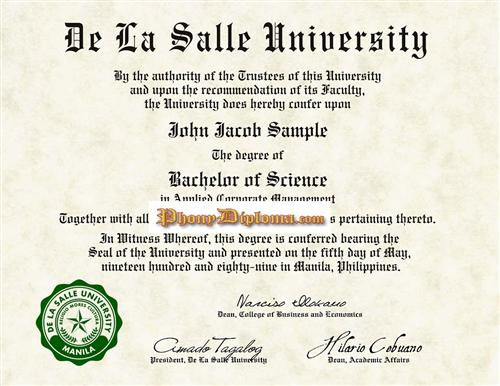Fake Diploma From Philippines University  PhonydiplomaCom