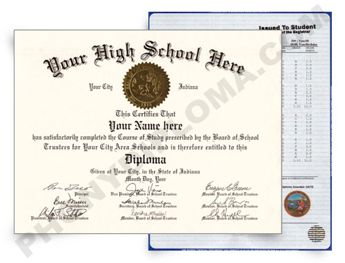 Fake High School Diploma and Transcripts