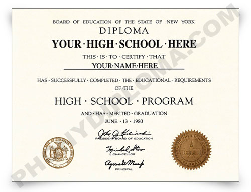 Fake High School Diploma designs from PhonyDiploma ...