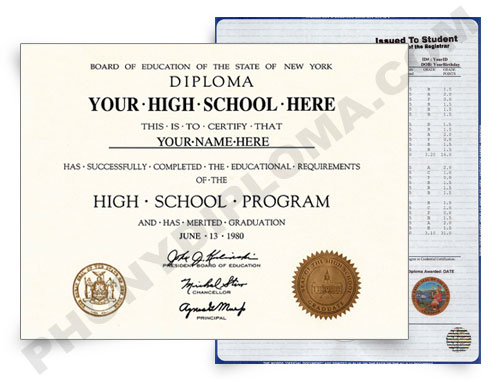 High School Fake Diploma and Transcripts