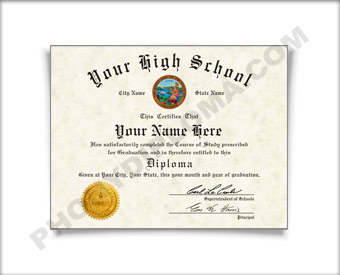 High School Fake Diplomas, Fake High School Degrees And ...
