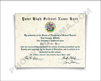 Fake High School Diploma Graduation 1990s HS 90s Dip