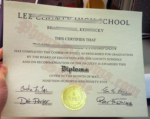 Fake Diplomas for High School Sample 3