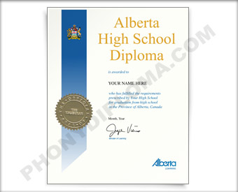 Fake Alberta Secondary School Diploma HS Can Alber D