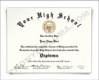 Fake New Jersey High School Diploma HS NJ