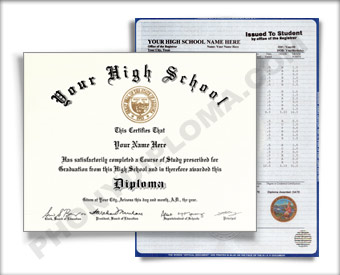 Fake Mississippi High School Diploma and Transcript HS New Miss D&T