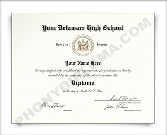 Fake Delaware High School Diploma HS DE