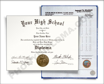 Fake Texas High School Diploma and Transcript