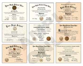 New Designs Fake High School Diploma New HS D