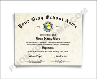Fake Vermont High School Diploma HS VT