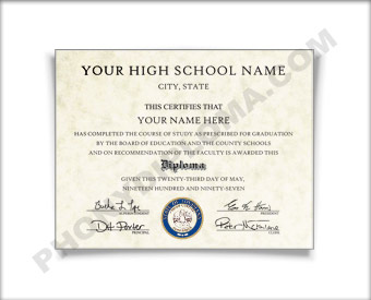 Fake High School Diploma, Southeast Design HS Southeast D