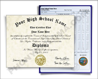 High School Diploma and Transcripts, Pacific Design HS Pacific D+T