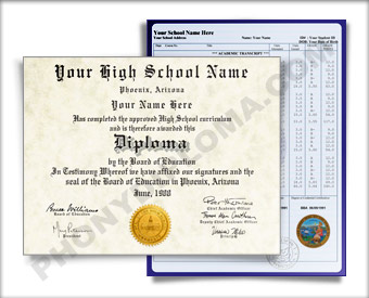 Fake High School Diploma | Fake High School Degree