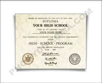 Fake New York High School Diploma