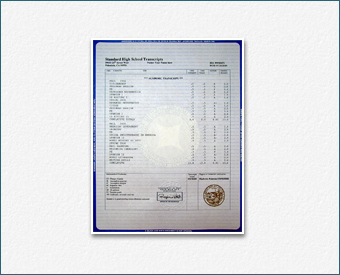 "Transcripts - Our Design with Actual State Seal, ""OFFICIAL DOCUMENT"" Watermark Trans 1"