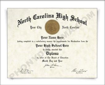 buy fake north carolina high school diploma southeast design  fake north carolina high school diploma