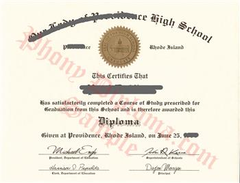 Fake Rhode Island High School Diploma HS RI