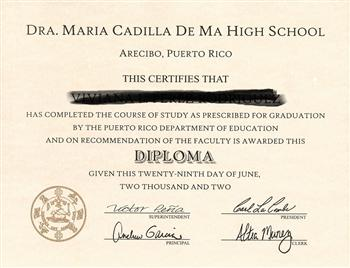 fake california high school diploma and transcripts com fake puerto rico high school diploma hs pr d