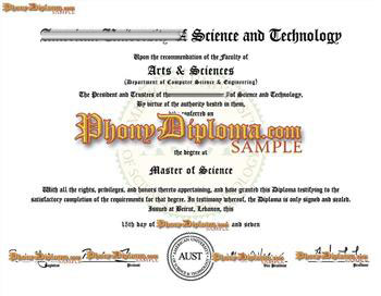 Fake Diploma from United Arab Emirates University UAE D
