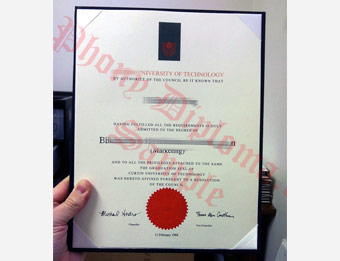 Curtin University of Technology - Fake Diploma Sample from Australia