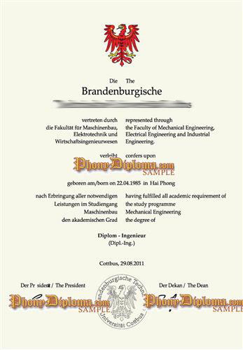 Fake Diploma from German University - PhonyDiploma.com