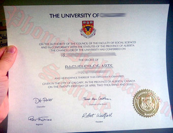 University of Calgary - Fake Diploma Sample from Canada