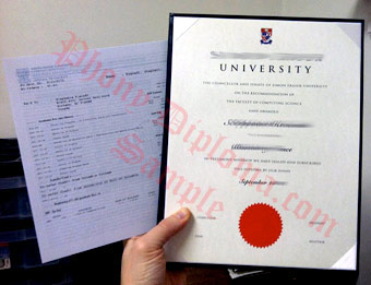 Simon Fraser University - Fake Diploma Sample from Canada