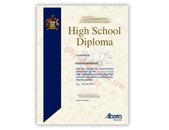 High School Diploma (3) - Fake Diploma Sample from Canada