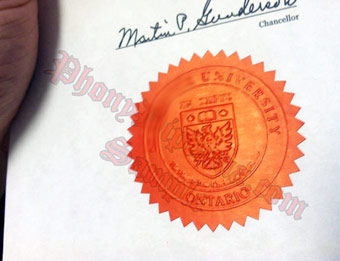 McMaster University Emblem - Fake Diploma Sample from Canada