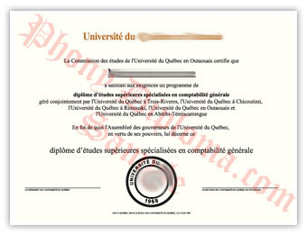 Universite du Quebec en Outaouais - Fake Diploma Sample from Canada