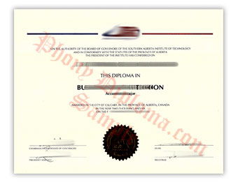 SAIT Polytechnic - Fake Diploma Sample from Canada