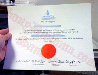 University of Toronto - Fake Diploma Sample from Canada