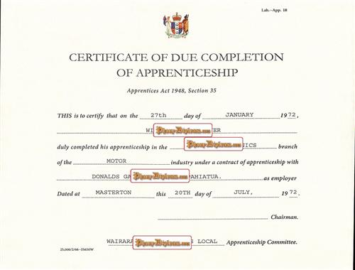 fake certificate of completion