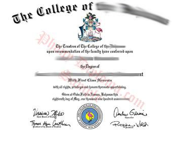 Fake Diploma from Bahamas University Bahamas D
