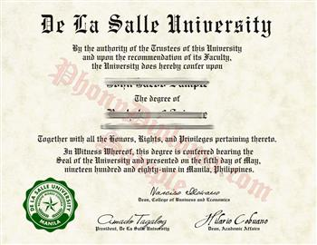 Fake Diploma from Philippines University Philippines D