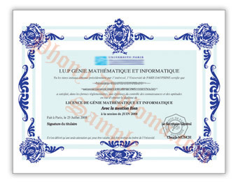 Universite Paris Dauphine - Fake Diploma Sample from France